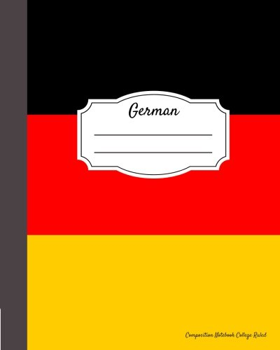 German Composition Notebook College Ruled: Writer