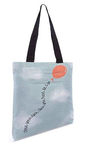 Snoogg Let It Go Tote Bag Shopping Utility 13,5 X 15 Pollici Realizzata In Tela Di Poliestere