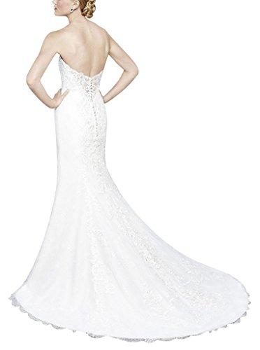 da di sexy Tulle di treno del di GEORGE Avorio retro piccolo pizzo nozze BRIDE Modello vestito abito sposa gnw8pZq