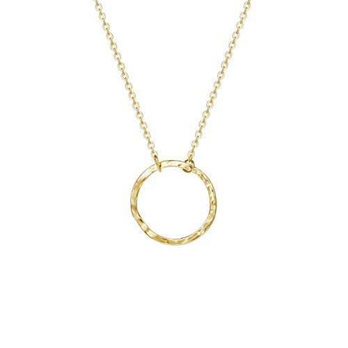 - COLROV Women's Handmade Pendant Necklace Simple 14K Gold Jewelry for Mothers Day
