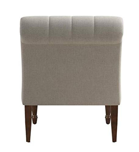 home, kitchen, furniture, living room furniture,  chairs 1 image Armless Curved Accent Chair Oatmeal deals
