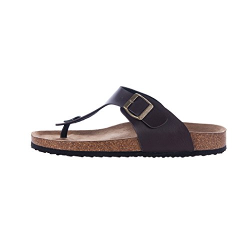 Wtw Menns Gizeh Tanga Fots Flate Flip-flops Kork Sandaler Brune