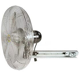 Airmaster Fan 10204K 24'' Beam Mount Yellow Safety Fan - 2 Speed Pull Chain Switch 1/3 HP 5280 CFM by Airmaster