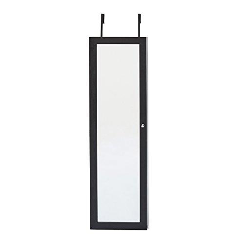 jewelry box armoire black - 5