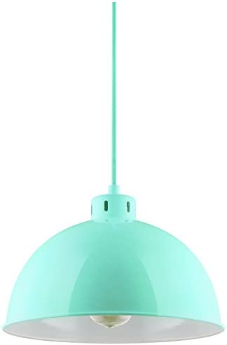 Sunlite CF PD S M Sona Residential Ceiling Pendant Light Fixtures with Medium E26 Base, Mint
