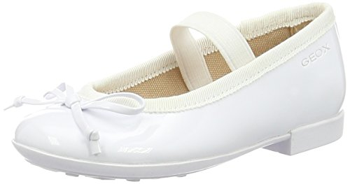 Geox Girls' Jr Pliegirl 38 Flat, White, 37 EU/5 M US Big Kid by Geox