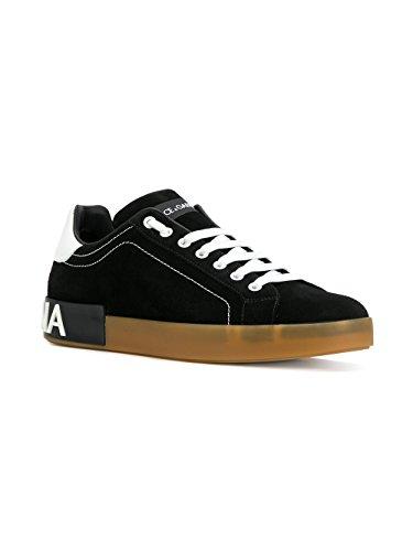 CS1561AH34189690 E GABBANA Sneakers Herren Schwarz Leder DOLCE U0PqR