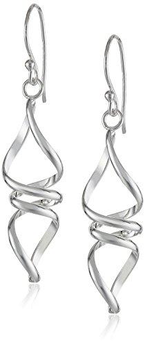 Sterling Silver Twisted Drop Earrings