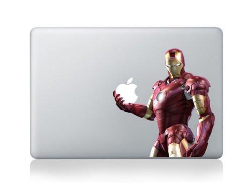Iron Man Super Hero Cartoon Character Decal Sticker for Macbook Laptop Air Pro Retina 13 13.3 Inch Cool