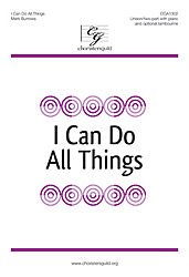 Read Online I Can Do All Things Composed By Mark Burrows. For Unison/2-part Choir and Piano (With Optional Tambourine). Sacred Anthem. Octavo. PDF Text fb2 ebook