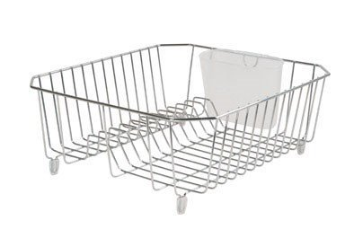 (Rubbermaid 6008ARCHROM Chrome Twin Sink Dish Drainer)