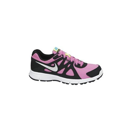 Nike Revolution 2 GS - Zapatillas para mujer, color rosa / negro / plata / blanco