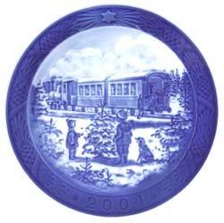 2004 Royal Copenhagen Christmas Plate - Awaiting The X-mas Train (Copenhagen Royal Plates Collector)