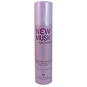 New Musk By Prince Matchabelli For Women. Gentle Deodorant Body Spray 2.5 Oz