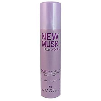 New Musk By Prince Matchabelli For Women. Gentle Deodorant Body Spray 2.5 Oz