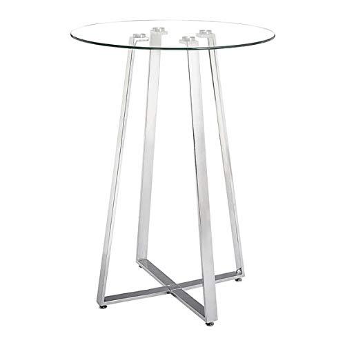HomeRoots Lemon Drop Bar Table Chrome