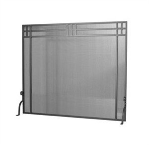 Meyda Tiffany Fireplace Screen - Meyda Tiffany 98233 Custom Made Fire screen from the Prairie Collection, Black