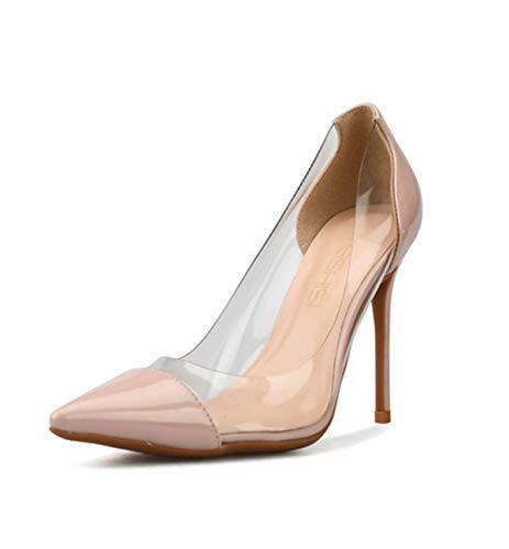 Blanc Chaussure Talon Mode Taille Grande 10cm Noir Fanessy À Enfiler Escarpins Femme Pour Soirée Rose De Suède Élégant Haut Rouge Aiguille Sandales Casual qCxwHtxX