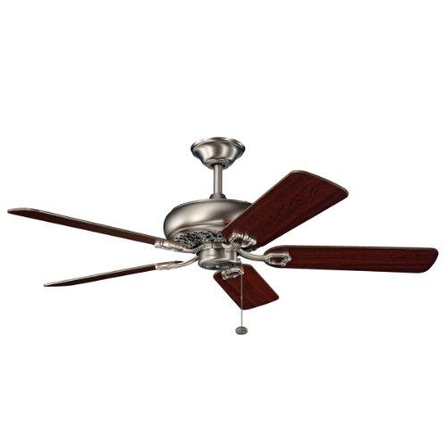 Kichler 300118AP, Bentzen Antique Pewter Energy Star 52 Ceiling Fan