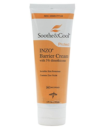 Invisible Zinc Oxide Barrier Cream - MEDLINE MSC095420 Soothe and Cool INZO Barrier Cream (Pack of 12)