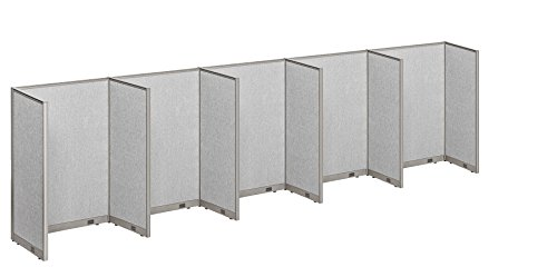 GOF Office Cubicle, 5 Stations 30D x 240W x 72W / Office Partition by GOF