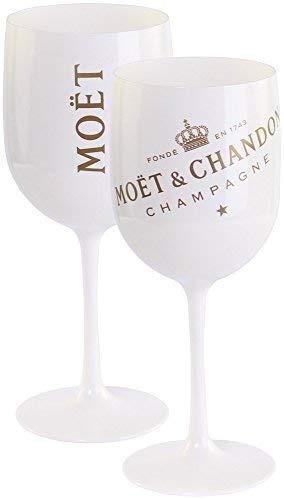 Moët & Chandon Ice Impérial 6 Flutes Acrylic-Goblets Glasses in Original-Box