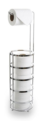 BINO 'Lafayette' Free Standing Toilet Paper Holder, Chrome (Chrome Toilet Paper Caddy)