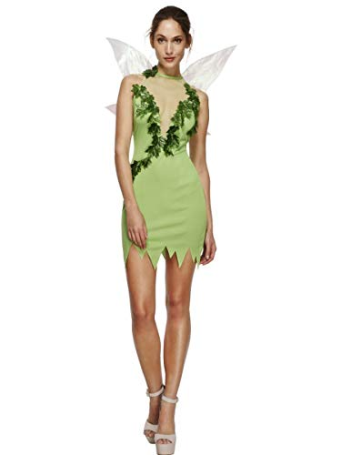 Fest Threads 2 PC Women's Woodland Magical Fairy Green Dress w/Wings Party Costume