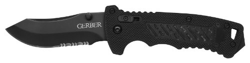 Gerber DMF Folding Knife, Serrated Edge, Modified Clip Point [31-000582]