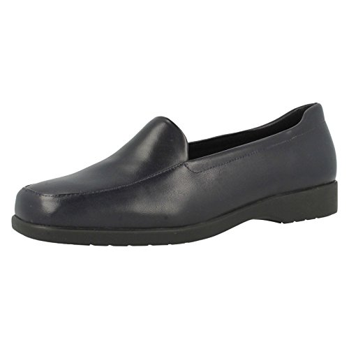 Clarks Georgia Womens Extra Wide Casual Shoes navy leather qVK6jE1DXJ