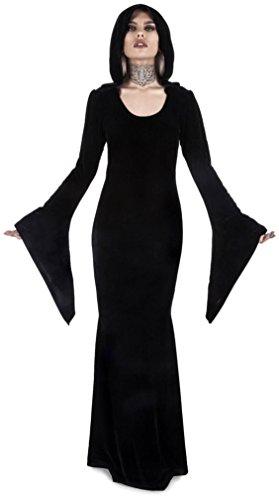 Killstar Noir Robe À Manches Longues Plaine Femmes