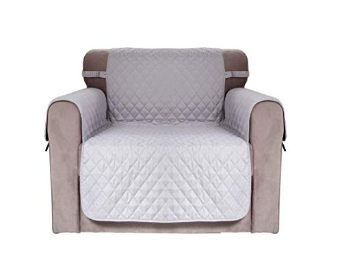 Chiara Rose Waterproof Couch Covers for Dogs Sofa Cushion Slipcover 1 Seater Furniture Protectors, Armchair, Grey (Chair Chiara)