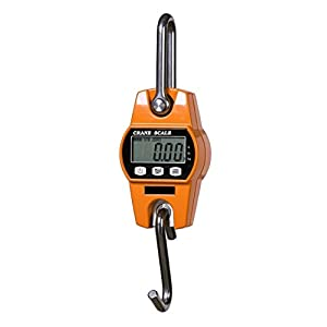 HYINDOOR Mini Digital Hanging Scale Industrial Crane Scale Kitchen Scale Heavy Duty Weighing Scale (300kg, 600lb)