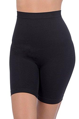 GCool Tech Patricia Lingerie Women's Anti-bacterial Fabric Hi-Waist Shapewear Shorts (Black, 2XL)