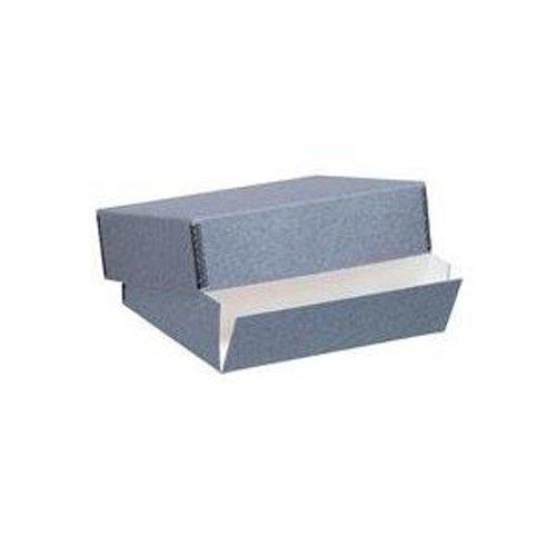 Lineco Archival 16'' x 20'' Print Storage Box, Drop Front Design, 16 1/2'' x 20 1/2'' x 3'', Exterior Color: Blue / Gray. by Lineco