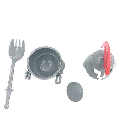 Promisen Soft or Hard Boiled Egg Cup Holder with a Fork Included- Knight Design - Kitchen Utensil Decor (Gray) by Promisen (Image #1)