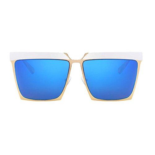 Moda Negro QZ Sol Simple Azul De Playa Color De Personalidad Vintage Plano Gafas Square Espejo HOME xqvBS