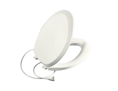 KOHLER K-4649-0 Heated French Curve Toilet Seat, White