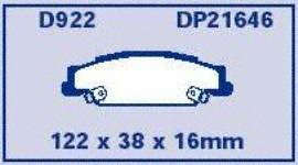 EBC Brakes DP21646 Greenstuff 2000 Series Sport Brake Pad
