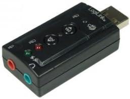 Honglei USB 2.0 Virtual 7.1 Externe Stereo-Soundkarte Audio-Adapter