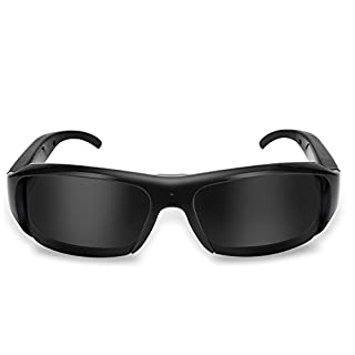 Outdoor Camera Glasses, 1920x1080 Rechargeable HD USB Sunglasses, Wide Angle View, Video Recorder Camera, Eyewear Video Recorder for Outdoor Activities, Cycling, Skiing