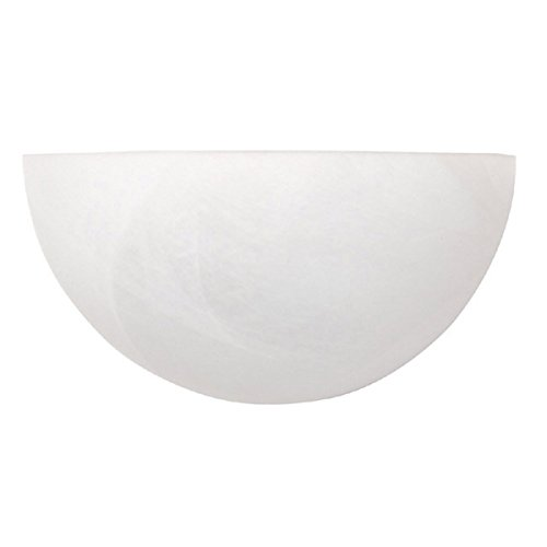 (Capital Lighting 1681MW Wall Sconce with Faux White Alabaster Glass Shades, Matte White)