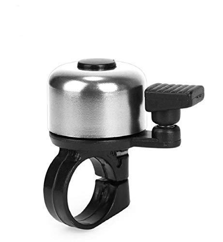 fety Cycling Bicycle Handlebar Metal Ring Black Bike Bell Horn Sound Alarm (Silver) ()
