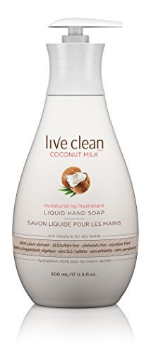 Hands Moisturizing (Live Clean Coconut Milk Moisturizing Liquid Hand Soap, 17 Fluid Ounce)