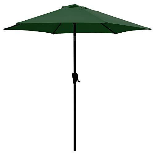 COBANA 7.5Ft Patio Garden Outdoor Market Umbrella with Tilt and Crank Dark ()