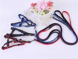 1Pc color Random, M   Belt Rope Pet Product Nylon Adjustable Denim Quick Release Pet Leash Lead Harness Correas De Perro for Dog Cat
