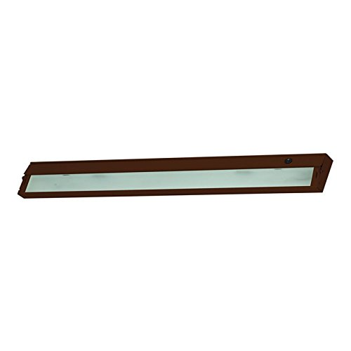 Alico Industries ZL348RSF ZeeLine 6-Light Xenon 120-Volt Under Cabinet Lighting, Bronze Finish with Frosted Glass Diffuser by Alico Industries
