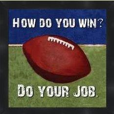 Motivational Poster Print Football - Motivational sports framed