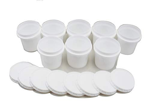 Kling Magnetics Superfos Vapor Lock HDPE Half-Pint (8 oz) Container & Lid - Pack of 8 ()