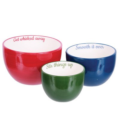 Farm to Table 3 Piece Ceramic Nested Bowl Set